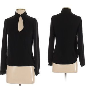 H&M Long Sleeve Polyester Black Blouse Size 2 XS